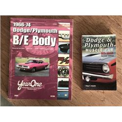 PARTS MANUAL AND MOPAR PRICE BOOK BOTH SELLING AS ONE LOT NO RESERVE
