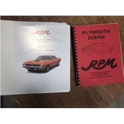 PARTS MANUALS FROM RPM IN SASKATOON BOTH SELLING AS ONE LOT NO RESERVE