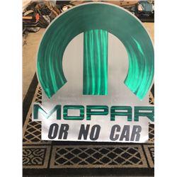 CUSTOM MADE MOPAR OR NO CAR SIGN NO RESERVE