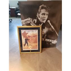 ELVIS THE KING COLLECTABLE PICTURE AND POSTER WITH COA NO RESERVE