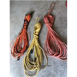 LOT OF 3 EXTENSION CORDS