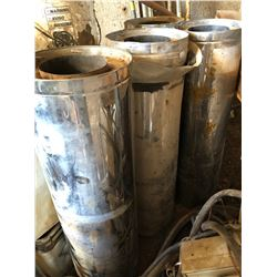 LOT OF 4,  3' EXTENSIONS OF INSULATED STOVE PIPE