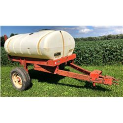 250 GAL GEORGE WHITE SPRAYER TANK ON FRAME W / 28' BOOM