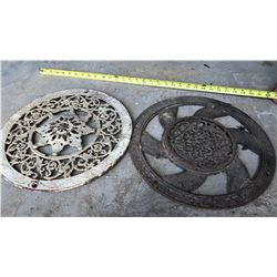 LOT OF 2 ANTIQUE FLOOR GRATES