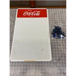 "VINTAGE COCA-COLA MENU BOARD AND SOME LETTERS 24"" x 14"""