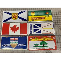 CANADIAN RELATED FRONT LICENCE PLATES