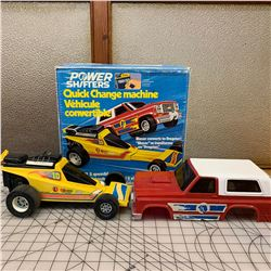 VINTAGE 1977 POWER SHIFTERS BLAZER DRAGSTER TOY WITH BOX