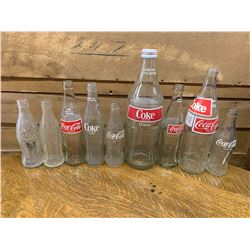 LOT OF VARIOUS COCA-COLA BOTTLES