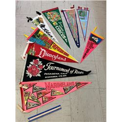 LOT OF VINTAGE SOUVENIR PENNANTS