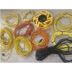 LOT OF EXTENSION CORDS FOR REPAIR