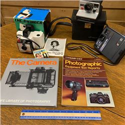 VINTAGE CAMERAS CASES AND PHOTOGRAPHY BOOKS