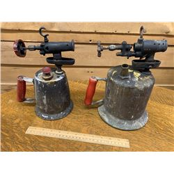 LOT OF 2 ANTIQUE BLOW TORCHES