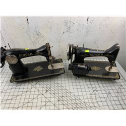 LOT OF 2 SINGER CABINET SEWING MACHINES