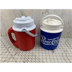 WATER JUGS ONE WITH PEPSI COLA ADVERTISING