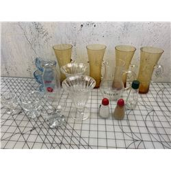 LOT OF GLASS AND OTHER MISC