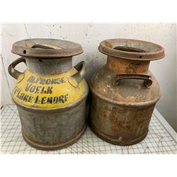 LOT OF 2 OLD CREAM CANS