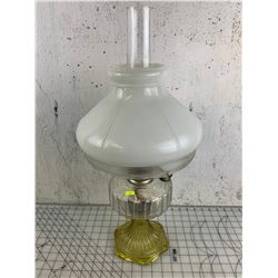 ANTIQUE ALADDIN OIL LAMP WITH CHIMNEY AND SHADE