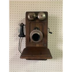 ANTIQUE KELLOGG WALL PHONE