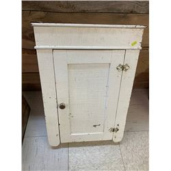 """ANTIQUE PAINTED WALL CUPBOARD 24 1/2"""" x 17"""" x 5 1/2"""""""