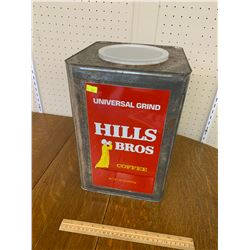 """LARGE HILLS BROS COFFEE TIN 14"""" x 9 1/4"""""""