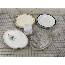 MISC PLATES AND SNACK SET DISHES