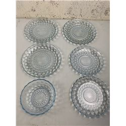 LOT OF BUBBLE GLASS DISHES