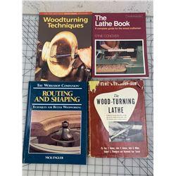 LOT OF LATHE AND WOOD TURNING BOOKS