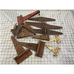 LOT OF OLD HINGES