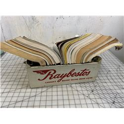 VINTAGE RAYBESTOS ADVERTISING PARTS BOOK STAND AND BOOKS