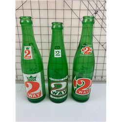 3 DIFFERENT 2-WAY SODA POP BOTTLES