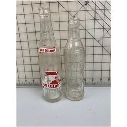 2 DIFFERENT OLD COLONY BOTTLES