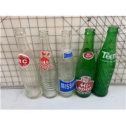 LOT OF 5 SODA POP BOTTLES HISPOT TEEM RC AND MORE