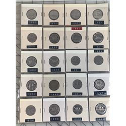 PAGE LOT CANADA NICKELS 1937 -64
