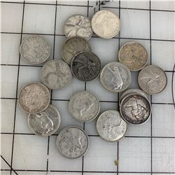 LOT OF CANADA SILVER QUARTERS