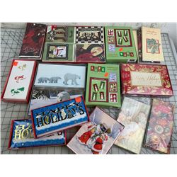 LOT OF UNUSED CHRISTMAS AND HOLIDAY CARDS