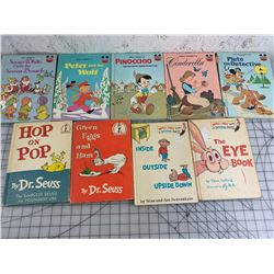 LOT OF VINTAGE CHILDREN'S BOOKS WALT DISNEY DR SEUESS ETC