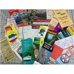 LOT OF VINTAGE BRITISH COLUMBIA TRAVEL GUIDES ETC