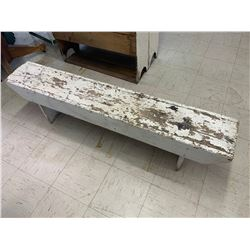 "PAINTED WOODEN BENCH 59"" LONG"