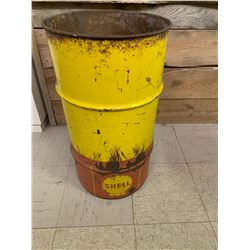 13 GALLON SHELL OIL BARELL