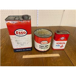 LOT OF 3 ESSO OIL CANS
