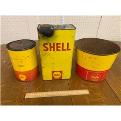 LOT OF SHELL OILCANS