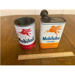 MOBILOIL CANS