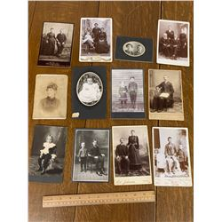 LOT OF CABINET CARD PHOTOGRAPHS