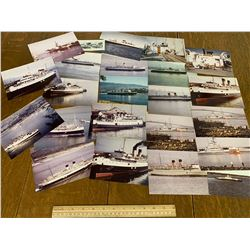 LOT OF SHIP PHOTOGRAPHS MANY ARE NAMED AND DATED