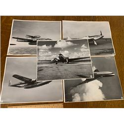 """LOT OF 5 RCAF 14"""" x 11"""" AIRPLANE PHOTOGRAPHS"""