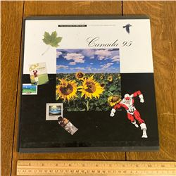 1995 COLLECTION OF CANADA POST STAMP BOOK