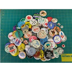 LOT OF PIN-BACK BUTTONS