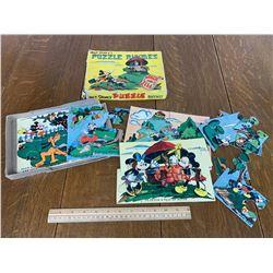 WALT DISNEY VINTAGE SET OF PUZZLES COMPLETE