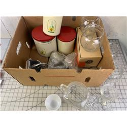 MISC LOT CANISTERS IRON ETC