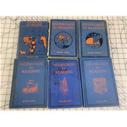 HIGHROADS TO READING VINTAGE SCHOOL BOOKS 1-6